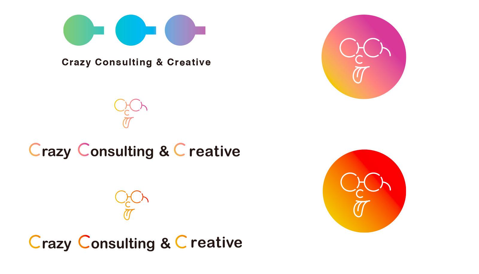 クレイジーコンサルティングアンドクリエイティブロゴボツ案イメージ